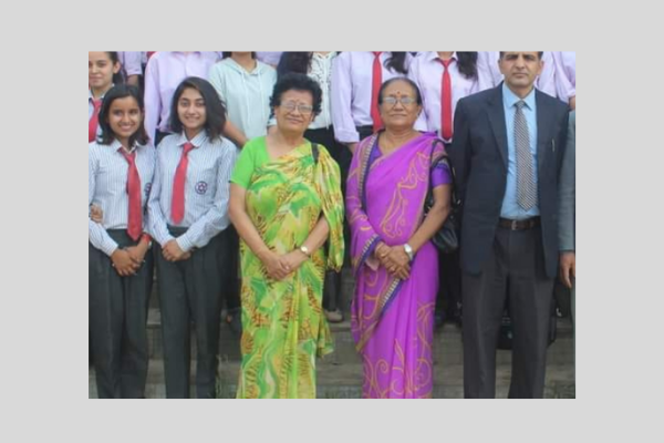 Prof. Timila Yami Thapa in a group photo - Her Journey
